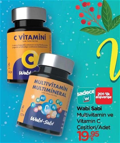 Wabi Sabi Multivitamin ve Vitamin C Çeşitleri/Adet image