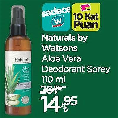 Naturals by Watsons Aloe Vera Deodorant Sprey 110 ml image