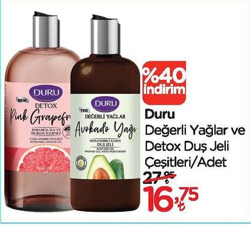 Duru Değerli Yağlar ve Detox Duş Jeli Çeşitleri/Adet image