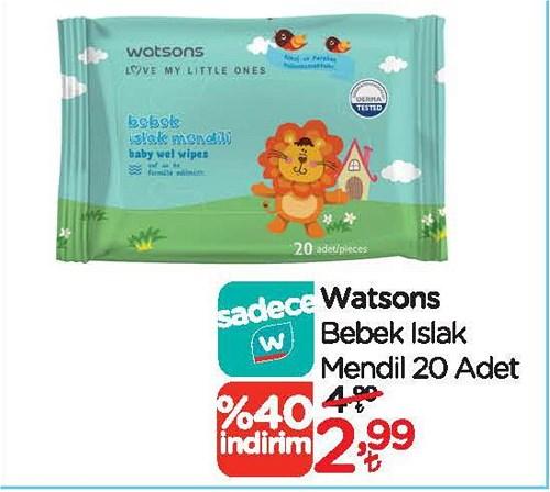 Watsons Bebek Islak Mendil 20 Yaprak image