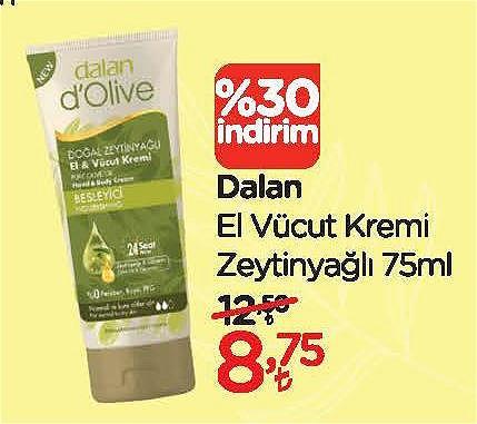 Dalan El Vücut Kremi Zeytinyağlı 75 ml image