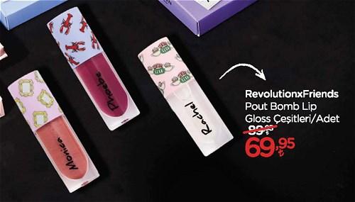 RevolutionxFriends Pout Bomb Lip Gloss Çeşitleri/Adet image