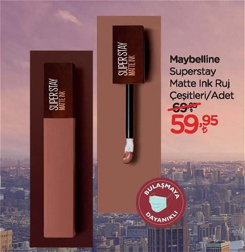 Maybelline Superstay Matte Ink Ruj Çeşitleri/Adet image