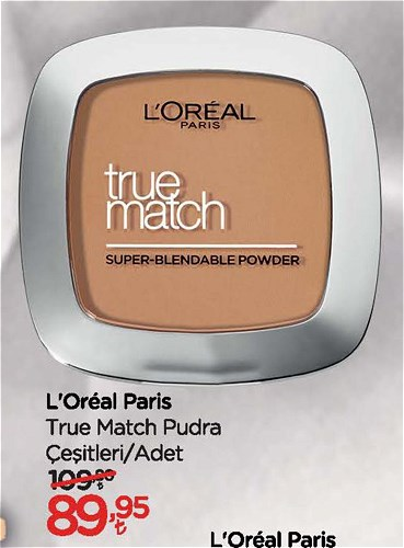 Loreal Paris True Match Pudra Çeşitleri/Adet image