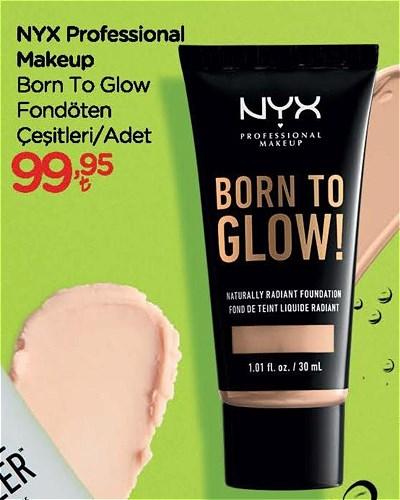 NYX Professional Makeup Born To Glow Fondöten Çeşitleri/Adet image