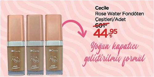 Cecile Rose Water Fondöten Çeşitleri/Adet image