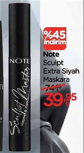 Note Sculpt Extra Siyah Maskara image