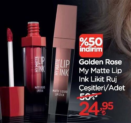 Golden Rose My Matte Lip Ink Likit Ruj Çeşitleri/Adet image