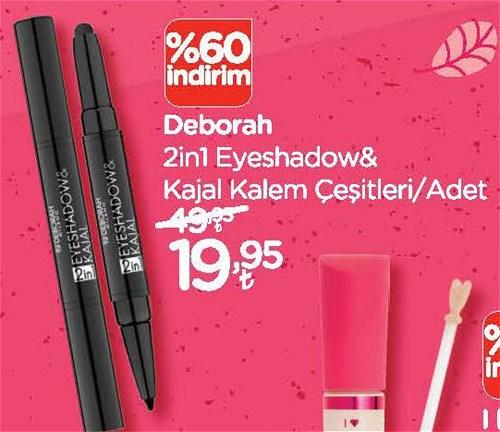Deborah 2in1 Eyeshadow&Kajal Kalem Çeşitleri/Adet image