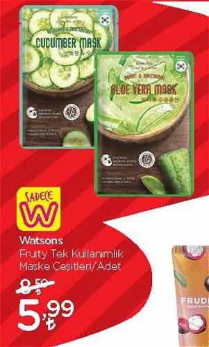 Watsons Fruity Tek Kullanımlık Maske Çeşitleri/Adet image