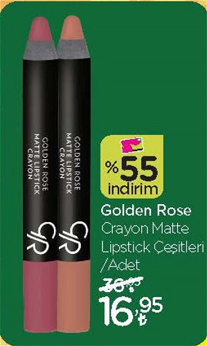 Golden Rose Crayon Matte Lipstick Çeşitleri/Adet image