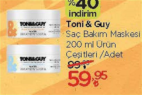 Toni&Guy Saç Bakım Maskesi 200 ml Çeşitleri image