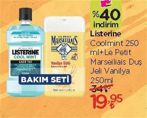Listerine Coolmint 250 ml+Le Petit Marseillais Duş jeli Vanilya 250 ml image