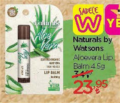 Naturals by Watsons Aloevera Lip Balm 4,5 g image