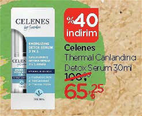 Celenes Thermal Canlandırıcı Detox Serum 30 ml image