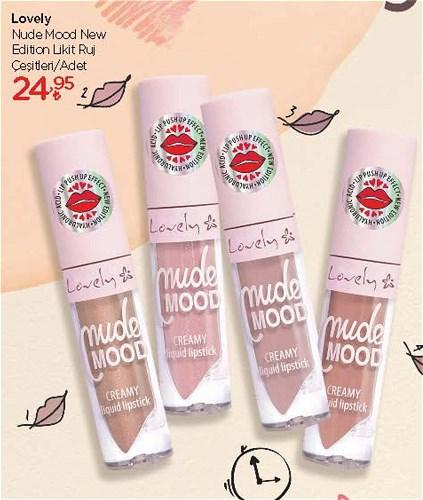 Lovely Nude Mood New Edition Likit Ruj Çeşitleri/Adet image