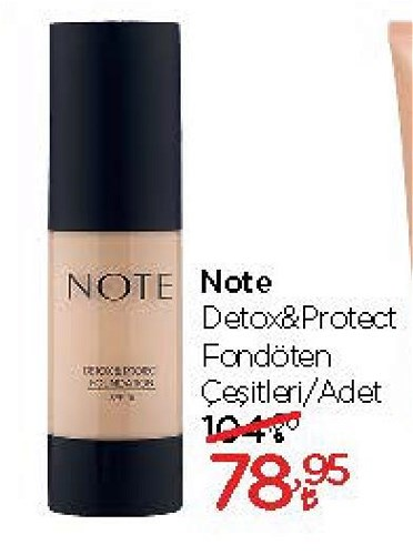 Note Detox&Protect Fondöten Çeşitleri/Adet image