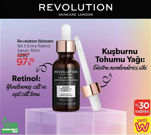 Revolution Skincare %0.5 Extra Retinol Serum 30 ml image