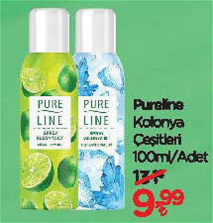 Pureline Kolonya Çeşitleri 100 ml image