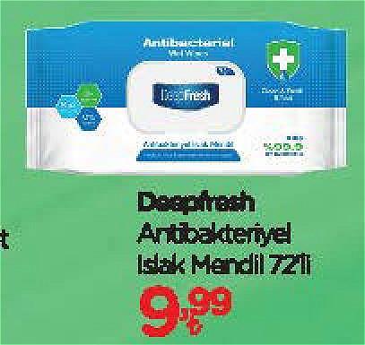 Deepfresh Antibakteriyel Islak Mendil 72'li image