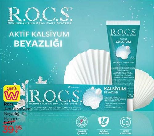 Rocs Aktif Kalsiyum Beyazlığı Diş Macunu  image