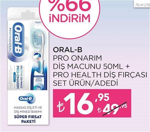 Oral-B Pro Onarım Diş Macunu 50 ml+Pro Health Diş Fırçası Set Ürün  image