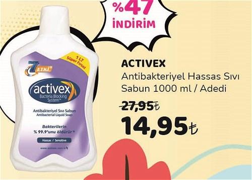 Activex Antibakteriyel Hassas Sıvı Sabun 1000 ml image