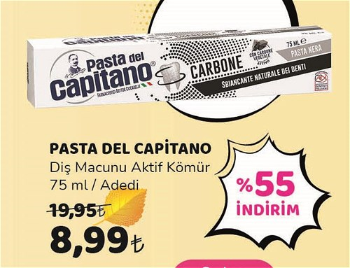 Pasta Del Capitano Diş Macunu Aktif Kömür 75 ml image