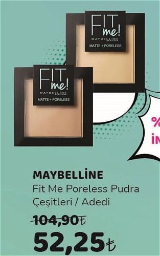 Maybelline Fit Me Poreless Pudra Çeşitleri/Adedi image