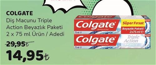 Colgate Diş Macunu Triple Action Beyazlık Paketi 2x75 ml image