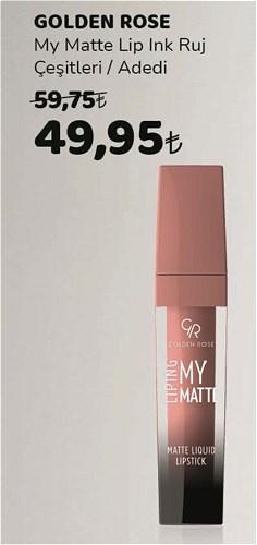 Golden Rose My Matte Lip Ink Ruj Çeşitleri/Adedi image
