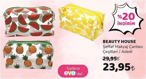 Beauty House Şeffaf Makyaj Çantası Çeşitleri/Adedi image