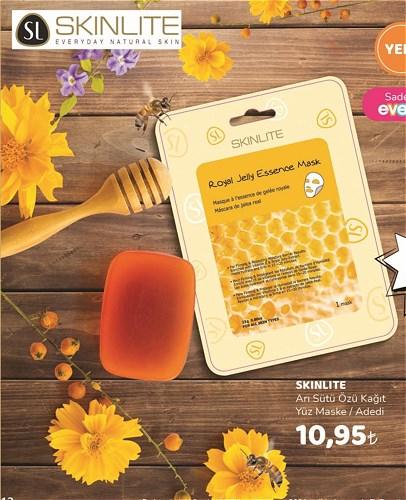 Skinlite Arı Sütü Özü Kağıt Yüz Maske image