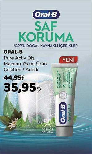 Oral-B Pure Activ Diş Macunu 75 ml Çeşitleri image
