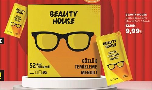 Beauty House Gözlük Temizleme Mendili 52'li image