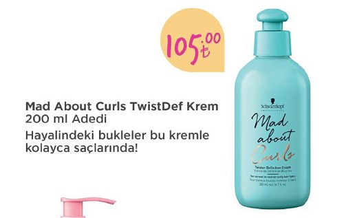 Schwarzkopf Mad About Curls TwistDef Krem 200 ml image