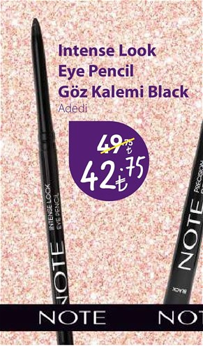 Note Intense Look Eye Pencil Göz Kalemi Black image