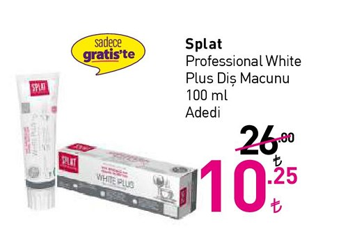 Splat Professional White Plus Diş Macunu 100 ml image