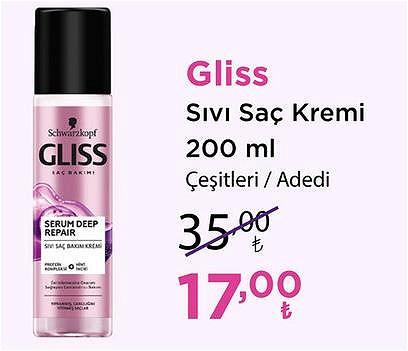 Gliss Sıvı Saç Kremi 200 ml Çeşitleri/Adet image