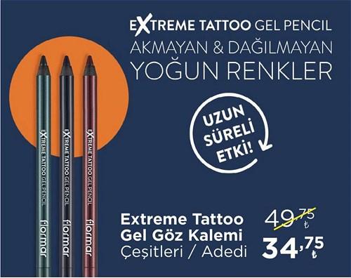 Flormar Extreme Tattoo Gel Göz Kalemi Çeşitleri/Adet image