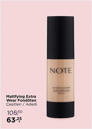 Note Mattfying Extra Wear Fondöten Çeşitleri/Adet image
