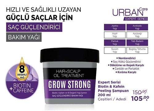 Urban Care Expert Serisi Biotin&Kafein Peeling Şampuan 200 ml Çeşitleri Adet image