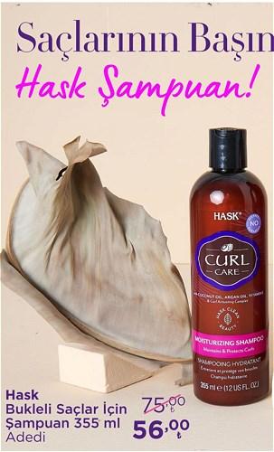 Hask Bukleli Saçlar İçin Şampuan 355 ml image