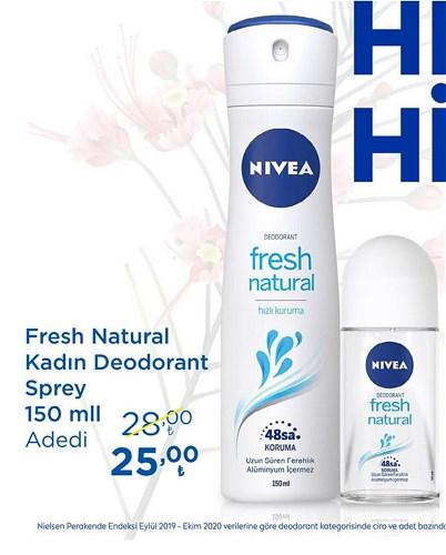 Nivea Fresh Natural Kadın Deodorant Sprey 150 ml image