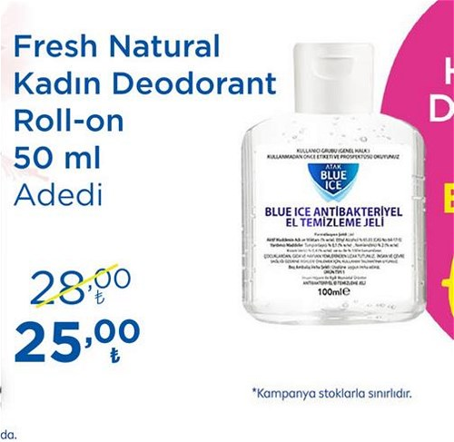 Nivea Fresh Natural Kadın Deodorant Roll-on 50 ml image