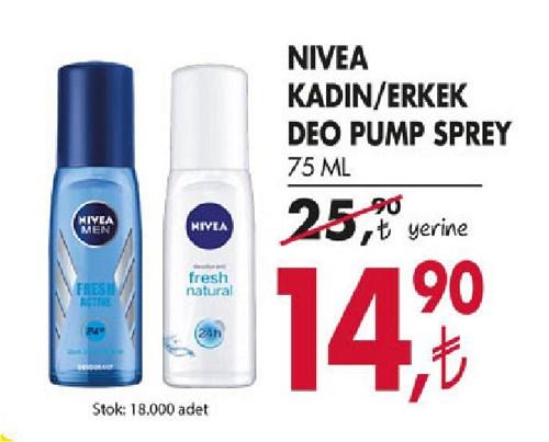 Nivea Kadın/Erkek Deo Pump Sprey 75 Ml image