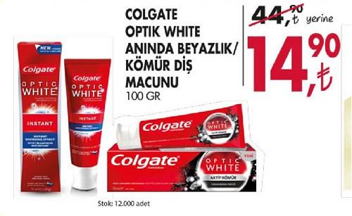 Colgate Optik White Anında Beyazlık/Kömür Diş Macunu 100 Gr image