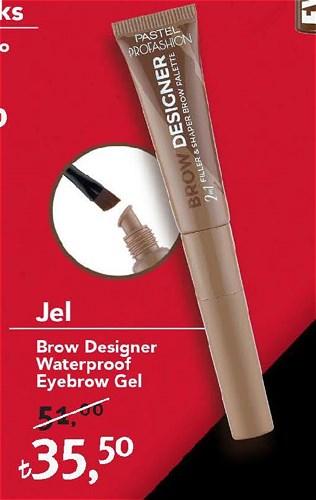 Pastel Jel Brow Designer Waterproof Eyebrow Gel image