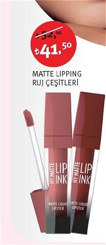 Golden Rose Matte Lipping Ruj Çeşitleri image