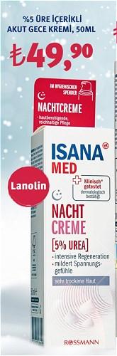 Isana Med %5 Üre İçerikli Akut Gece Kremi 50Ml image